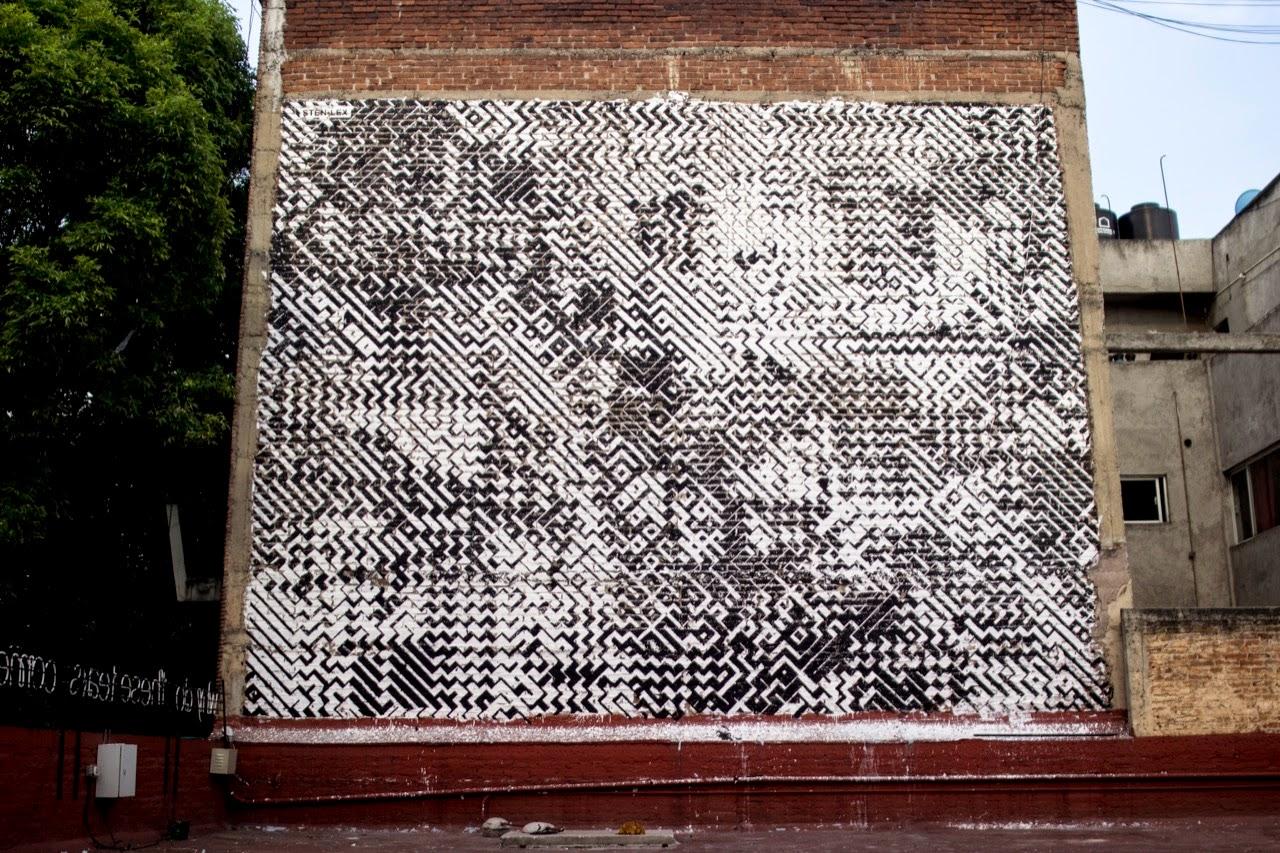Sten & Lex paint a new piece in Mexico City