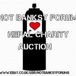 "NotBanksyForum organize the ""Nepal Street Art Charity Auction"""