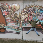 "NYCHOS x FlyingFortress ""The Anatomy Of Mother Bear Giving Birth"" New Mural In Vienna, Austria"