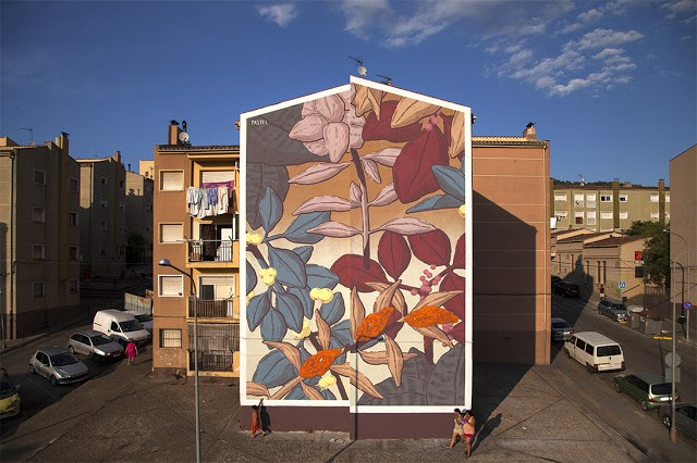 Pastel creates a new mural in Girona, Spain