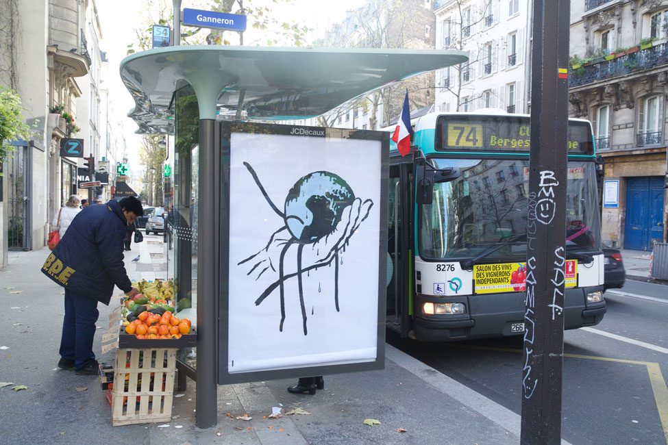 Brandalism: 600 ad takeovers in Paris before the COP21 Climate Conference