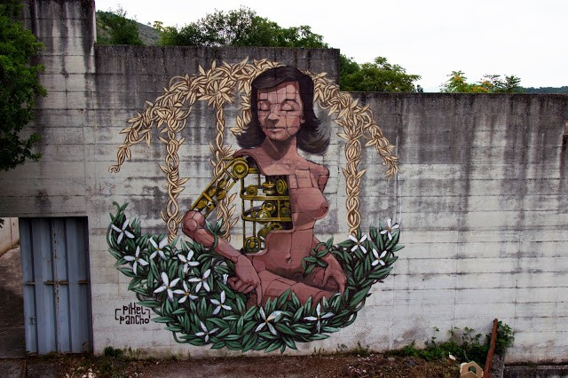 Pixel Pancho creates a new mural in Arce, Italy for Memorie Urban '15