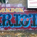 """Ben Eine """"London Riot"""" New Mural In London"""