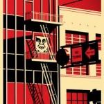 "Shepard Fairey ""SF Fire Escape"" New Print Available April 7th"
