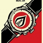"""Shepard Fairey """"Time To Move On"""" Limited Edition Screen Print"""