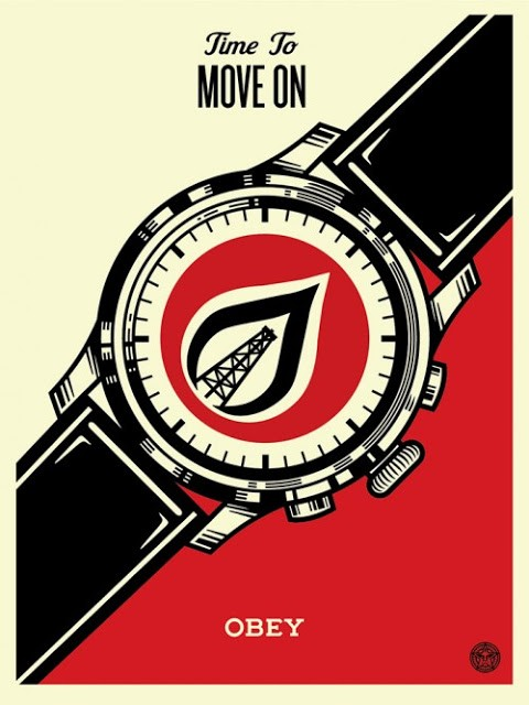 "Shepard Fairey ""Time To Move On"" Limited Edition Screen Print"