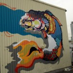 Titi Freak New Mural In Progress, Sakai Japan