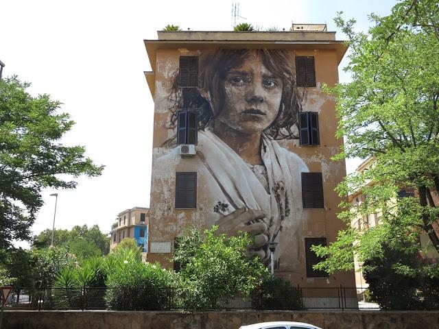 Guido Van Helten for Big City Life in Rome, Italy