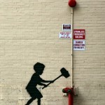 "Banksy ""Hammer Boy"" New Street Piece – Upper West Side"