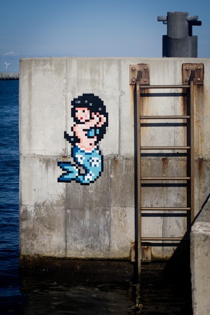 Invader creates a series of new invasions in Ravenna, Italy