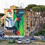 Agostino Iacurci New Mural For Sanba Festival – Rome, Italy