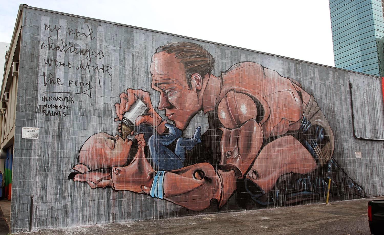 Pow! Wow! '15: Herakut creates a new mural in Honolulu, Hawaii