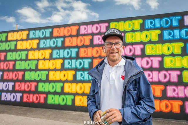"""Eine creates """"Riot"""", his newest piece on Coney Island"""