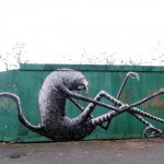 Phlegm New Mural In Sheffield, UK