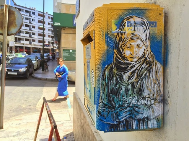 C215 paints a series of new works in Rabat, Morocco