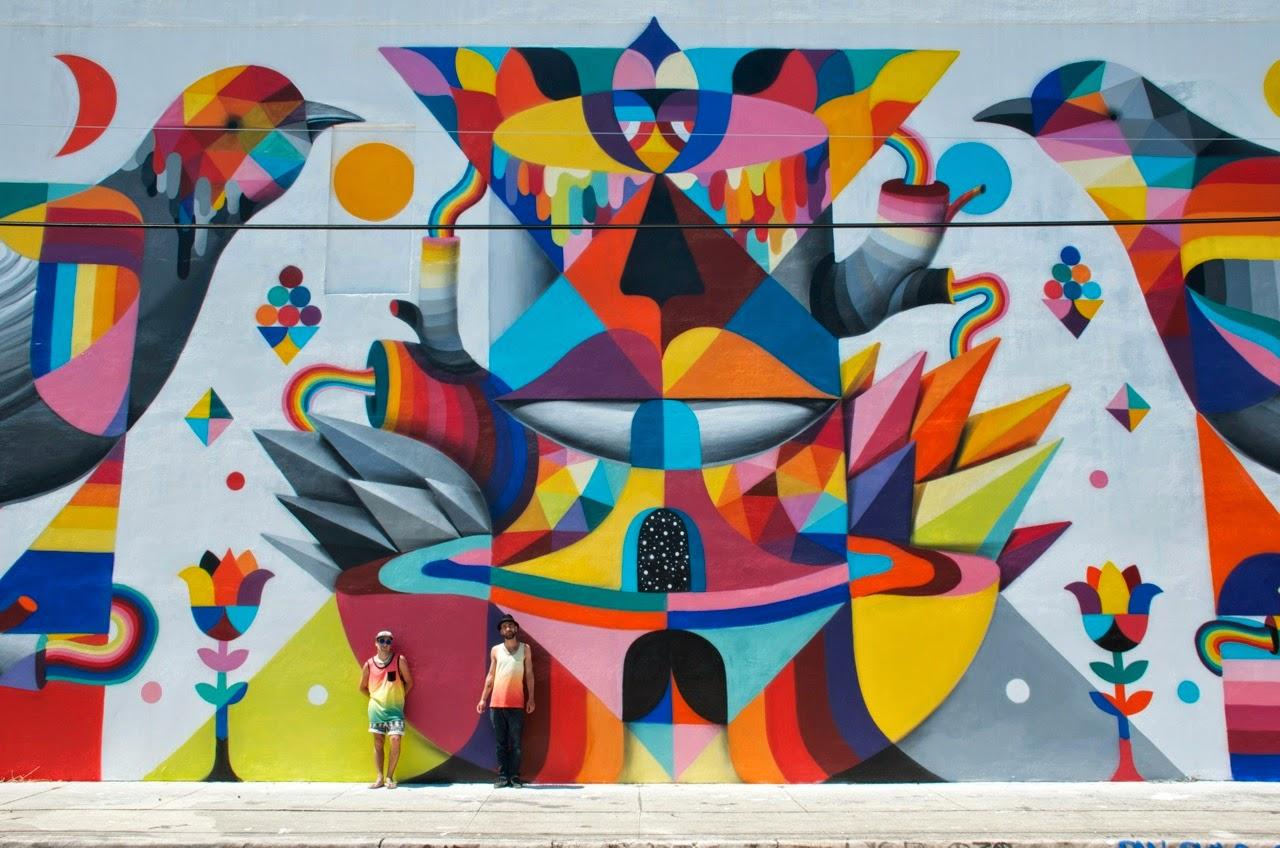 Remed x Okuda New Mural – Wynwood, Miami