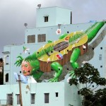"Liqen ""Iguana Cuatro"" New Mural For Los Muros Hablan '13 – San Juan, Puerto Rico"