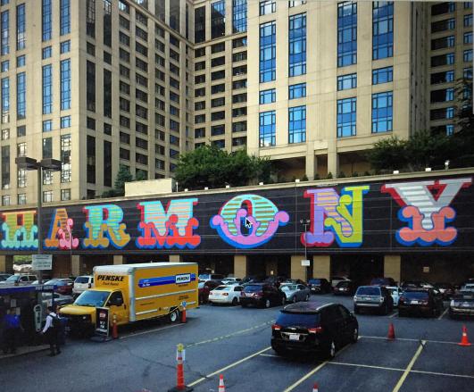 "Ben Eine creates ""Harmony"", his latest mural in Chicago"