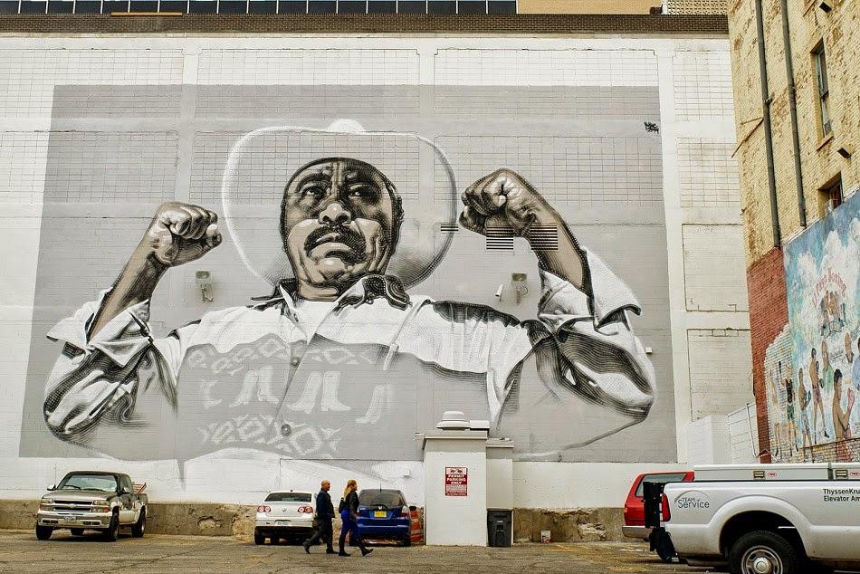 """El Mac reveals """"Ánimo Sin Fronteras"""", a new mural in El Paso, Mexico"""