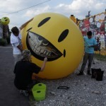 "Ron English ""Grin Balloon"" New Installation In Detroit"