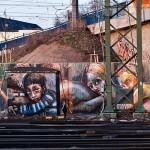 "Herakut ""Brothers Helping Sisters Helping…"" New Mural In Mannheim, Germany"