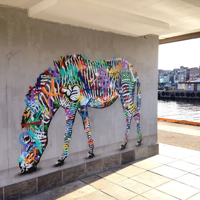 Martin Whatson paints a series of new pieces in Oslo, Norway