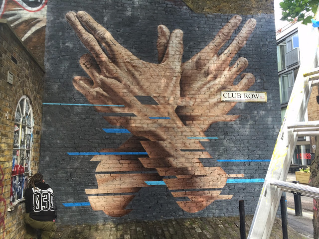 James Bullough creates a new mural in East London, UK