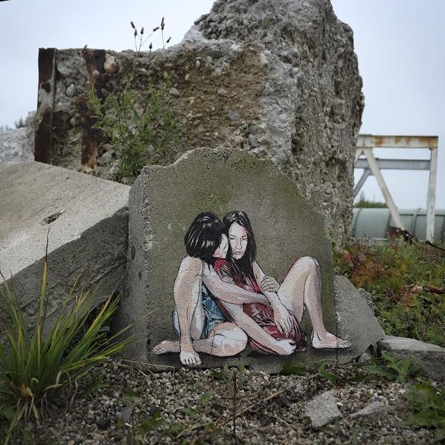 Tiny Street Art by Jana & JS in Salzburg, Austria