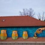 """Lonac x Svenki Vidoviti """"Meduške"""" New Mural – Zagreb, Croatia"""