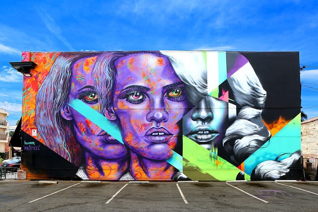 Madsteez & Hueman collaborate on a new piece in Long Beach, USA