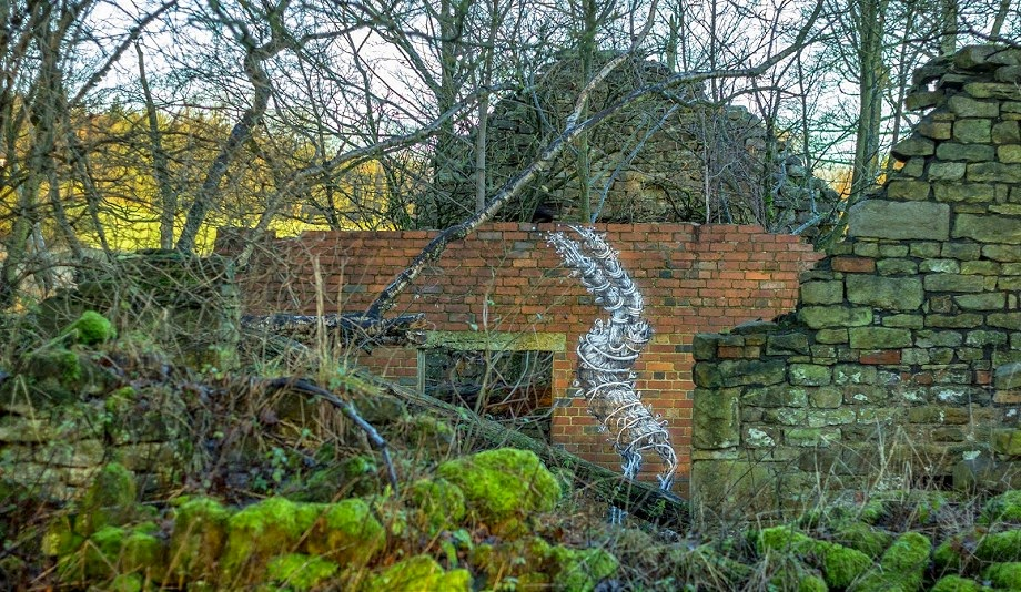 Phlegm creates a new piece in the woods around Sheffield