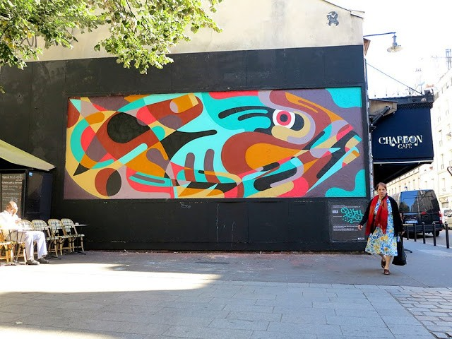 Reka One creates a new mural in Paris for Le Mur