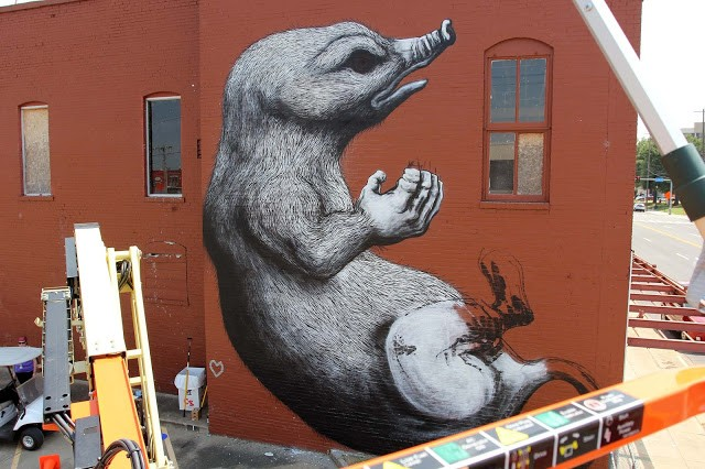 Unexpected '15: Work in progress by ROA in Fort Smith, Arkansas