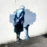 Banksy paints a new street piece in Folkestone, UK