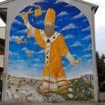 Blu creates a tribute mural to Fabrizio Ceruso in Rome, Italy
