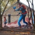 """Fintan Magee """"The Hikers"""" New Mural – Sydney, Australia"""