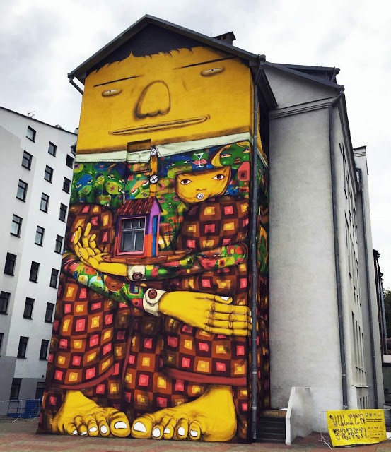 Os Gemeos unveils a new mural in Minsk, Belarus