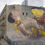 Os Gemeos x Aryz New Mural In Lodz, Poland