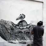 Alexis Diaz New Mural In Progress, Paris, France