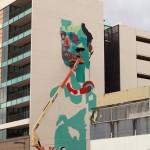 Aryz New Mural In Progress, San Juan, Puerto Rico