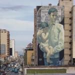 Aryz unveils a large mural in Maracay, Venezuela