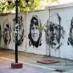 Borondo x Achilles x Mu x Bocho x Mufa x Sara New Mural In Athens, Greece
