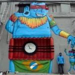 Cranio New Mural In Sao Paulo, Brazil