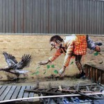 "Fintan Magee ""Missing Keys"" New Street Art – Brisbane, Australia"