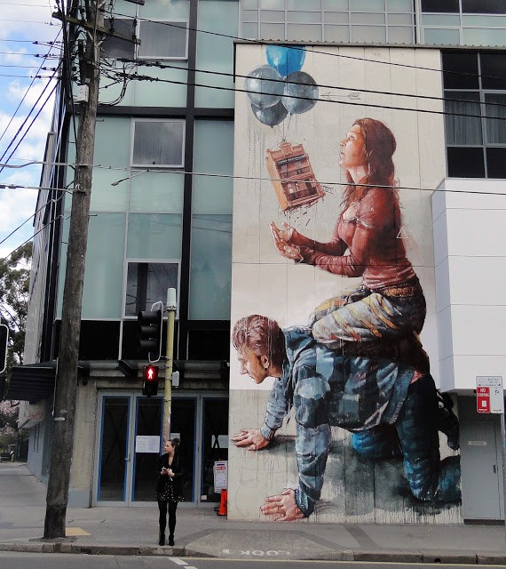"""Housing Bubble"", a mural by Fintan Magee in Sydney"