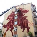 JAZ New Mural In Progress, Istanbul, Turkey