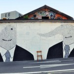 "i am a cloud ""Two Figures, Two Ties, Two Mouths, One Eye"" New Mural In Lugano, Switzerland"