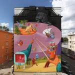 Interesni Kazki (AEC) New Mural In Moscow, Russia