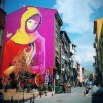 INTI New Mural In Progress, Istanbul, Turkey