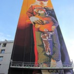 INTI New Mural In Progress, Paris, France